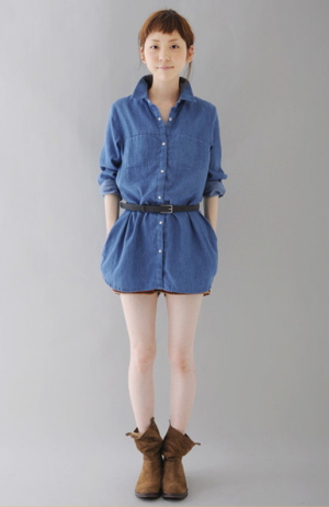 Denim type dress