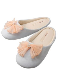 oeuf doux tulle ribbon room shoes