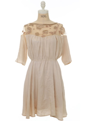 Flower motif dress (Snidel)