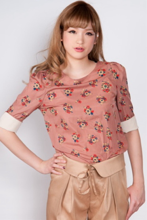 Titiy&Co / flip bi-color blouse