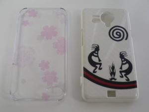 iphone 4s cover (transparent & sakura design)
