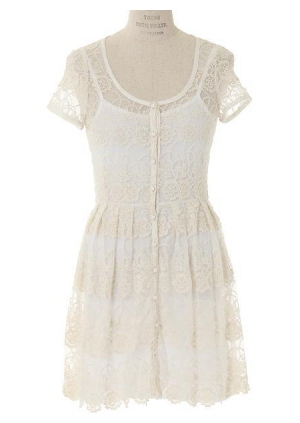 Japanese style embroidered lace dress