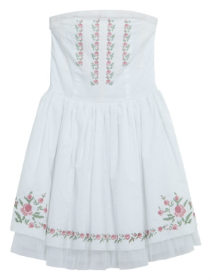 cross-stitch cotton dress