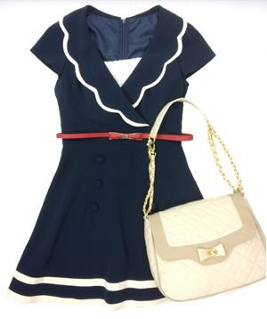 marine style dress