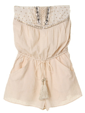 Japanese fashion trend / sweet casual tube romper