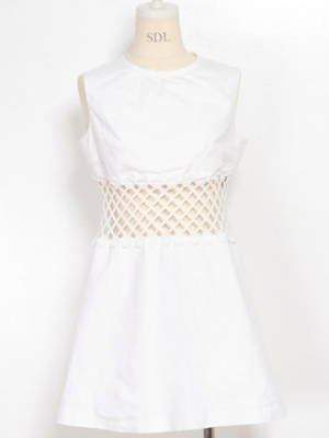 Japanese fashion trend / sweet casual cotton dress