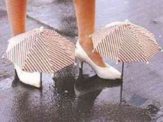 靴に付ける傘