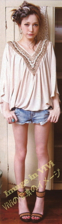 Fashion coordination / shorts and tops