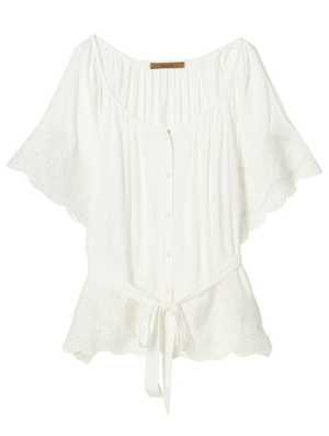 Japan fashion style / sweet cotton tunic