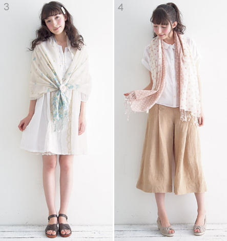 fashion coordinate / summer sweet natural style