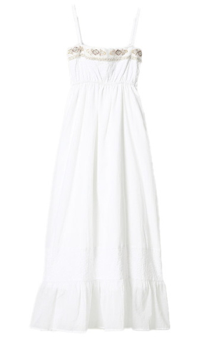 Japanese fashion style / sweet casual cotton maxi dress