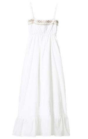 Japanese fashion style / sweet casual cotton maxi dress