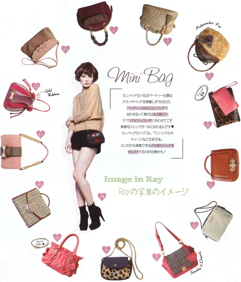 Japanese fashion accessories trend / small or mini bags