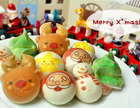 サンタクロース,トナカイさん,クリスマスツーリ,雪だるま