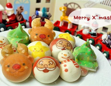 Christmas delicacy (Santau Claus, snowman, christmas tree, reindeer, stars