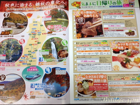 Book tour packages through JR Higashi Nihon