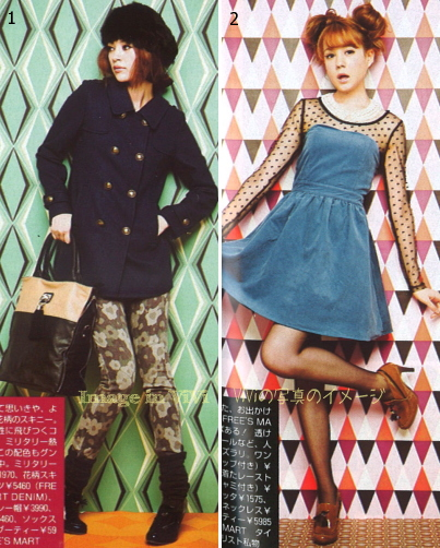 Japanese fashion style / sweet, girly, military fashion