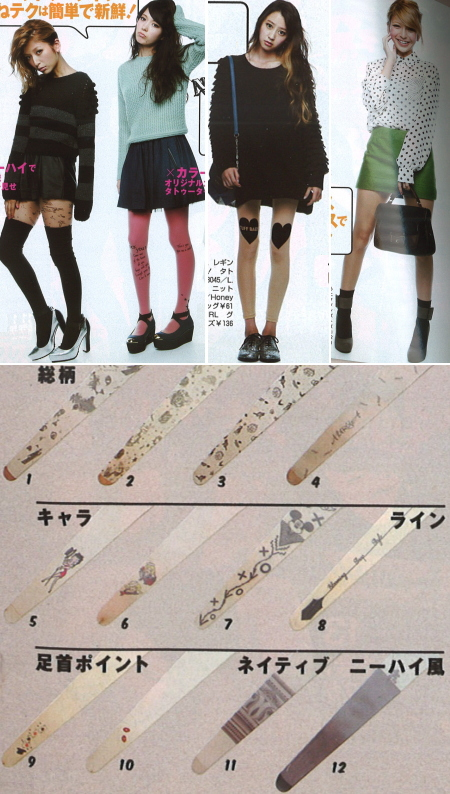 Japanese fashion styles / Tattoo tights