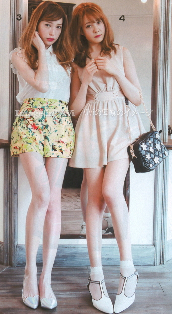 Japan fashion trend / fit and flare dress, neon color shorts