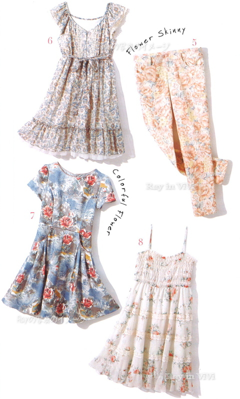 Japanese fashion trend / Floral prints dresses
